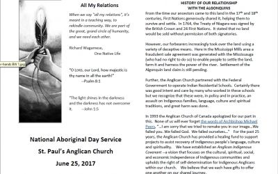 National Aboriginal Day at St. Paul's Almonte