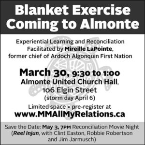 Blanket Exercise Comes to Almonte poster